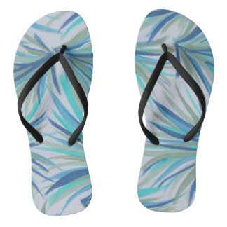 Blue Feathers Thongs