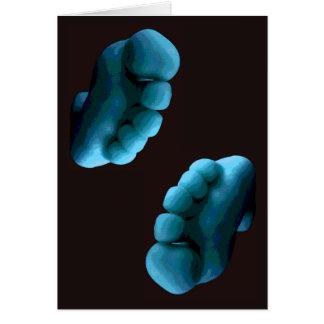 Blue Feet Photoshop Art ... Greeting Card