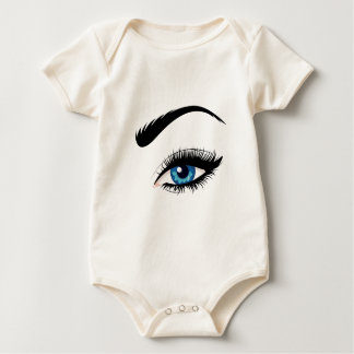 Blue Female Eye Baby Bodysuit