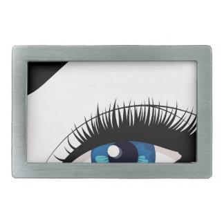 Blue Female Eye Belt Buckles