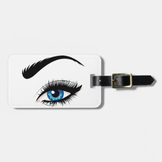 Blue Female Eye Luggage Tag