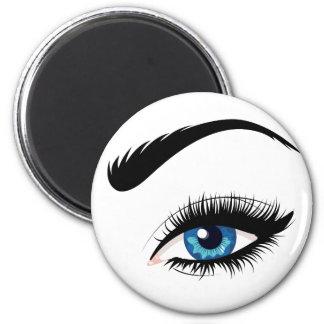 Blue Female Eye Magnet