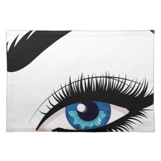 Blue Female Eye Placemat