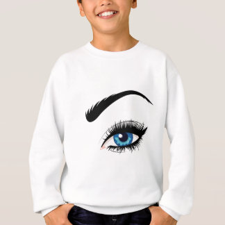 Blue Female Eye Sweatshirt