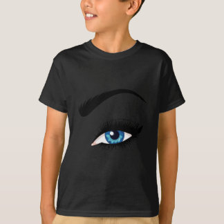 Blue Female Eye T-Shirt