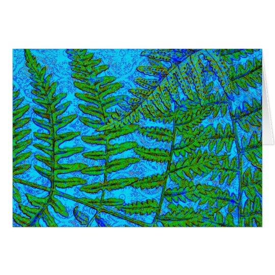 Blue Fern  card