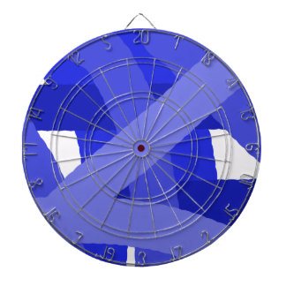 Blue Fest Abstract Dartboard