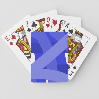 Blue Fest Abstract Playing Cards