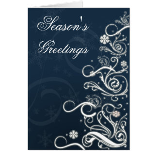 Blue Festive Christmas Greeting Cards