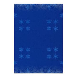 blue festive pattern custom invitation