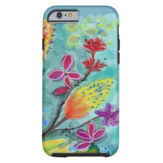 Blue field of Flowers Tough iPhone 6 Case