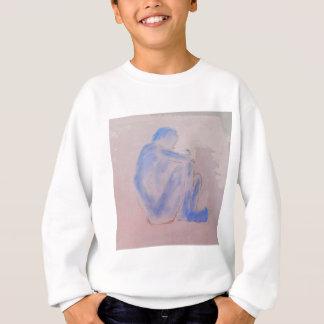 Blue Figurative Mauve Art Sweatshirt