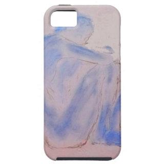 Blue Figurative Mauve Art Tough iPhone 5 Case