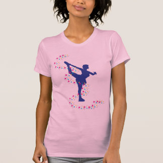 Blue Figure Skater with Stars T-Shirt