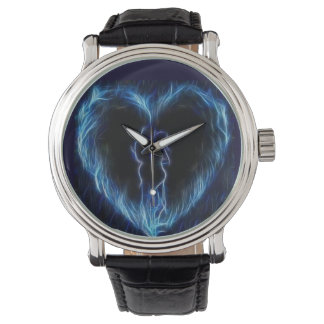 Blue Fire Heart Watch
