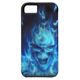 Blue Fire Skull iPhone 5 Cover