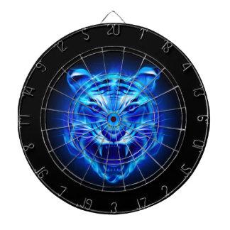 Blue Fire Tiger Face Dart Board