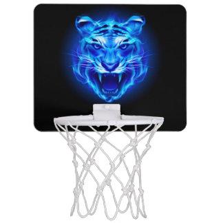 Blue Fire Tiger Face Mini Basketball Hoop