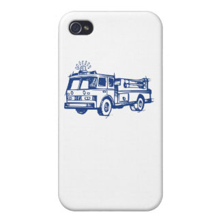 Blue Fire Truck iPhone 4 Cover