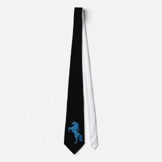 Blue Fire Unicorn Tie