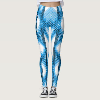 Blue Fire Vibes Leggings