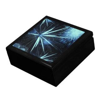 Blue Fireworks Box Large Square Gift Box