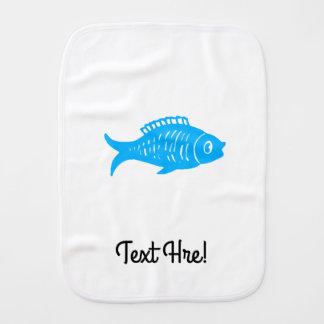 Blue Fish Burp Cloth