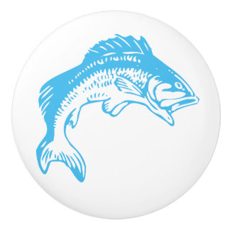 Blue Fish Ceramic Knobs