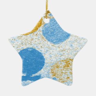 blue fish ceramic ornament