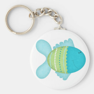 Blue Fish Keychain