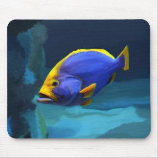 Blue fish mousepad