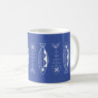 Blue Fish pattern Classic Mug