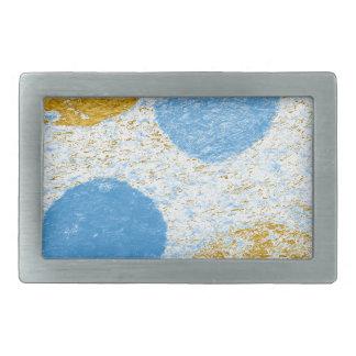 blue fish rectangular belt buckles