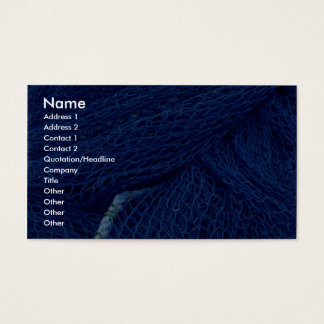 Blue fishing net business card