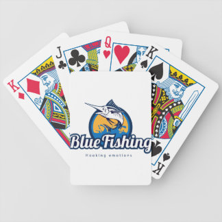 Blue Fishing Poker Deck