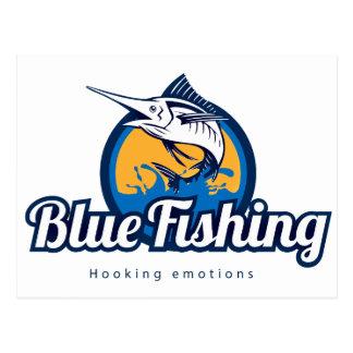 Blue Fishing Postcard