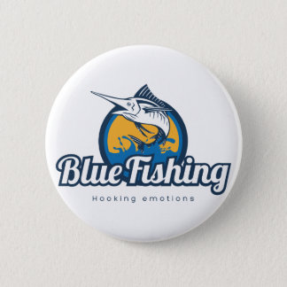 Blue Fishing Products 6 Cm Round Badge