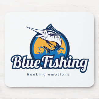 Blue Fishing Products Mouse Pad