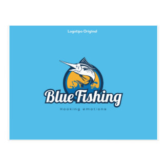 Blue Fishing Products Postcard
