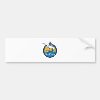 Blue Fishing Shop Bumper Sticker