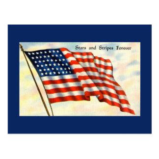Blue Flag Independence Day Postcard