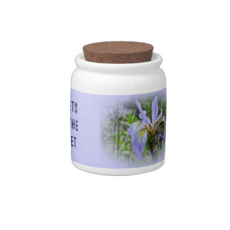 Blue Flag - Wild Iris Candy Dish