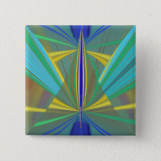 Blue Flame 2 Abstract in Blues 15 Cm Square Badge