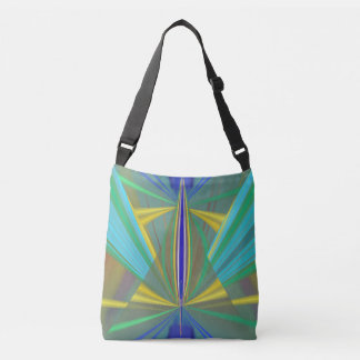Blue Flame 2 Abstract in Blues Crossbody Bag