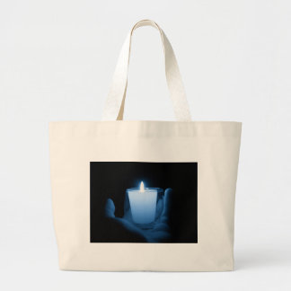 Blue Flame Large Tote Bag
