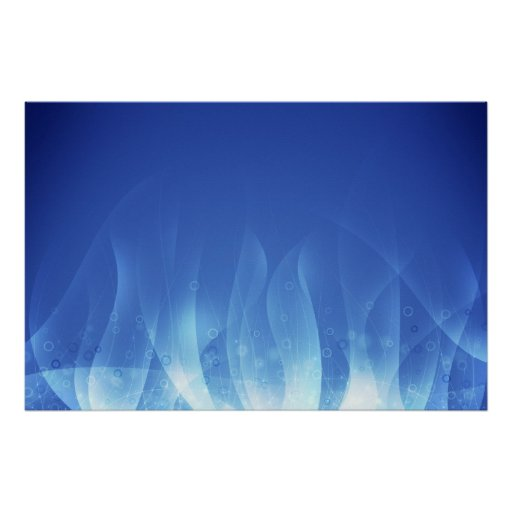 Blue Flame Posters