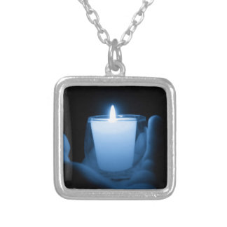 Blue Flame Silver Plated Necklace
