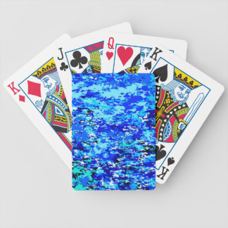 Blue Flames Background Bicycle Playing Cards