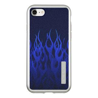 Blue Flames Decor on a Incipio DualPro Shine iPhone 8/7 Case