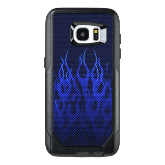 Blue Flames Decor on a OtterBox Samsung Galaxy S7 Edge Case